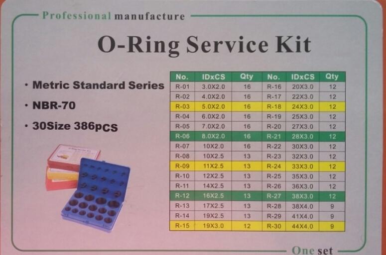Набор метрических колец  O-Ring Kit